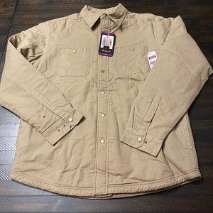 Hawke & Co Fleece Lined Cotton Twill Shirt Jacket